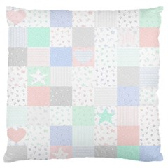 Sweet Dreams Rag Quilt Large Flano Cushion Case (two Sides) by Mariart