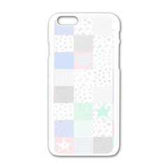 Sweet Dreams Rag Quilt Apple Iphone 6/6s White Enamel Case by Mariart