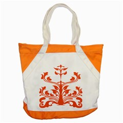 Tree Leaf Flower Orange Sexy Star Accent Tote Bag by Mariart