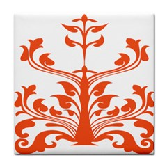 Tree Leaf Flower Orange Sexy Star Face Towel by Mariart