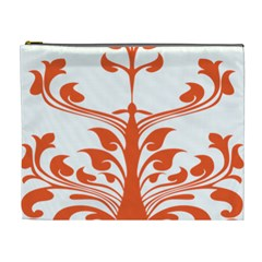 Tree Leaf Flower Orange Sexy Star Cosmetic Bag (xl) by Mariart