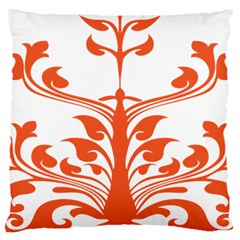 Tree Leaf Flower Orange Sexy Star Large Cushion Case (one Side) by Mariart