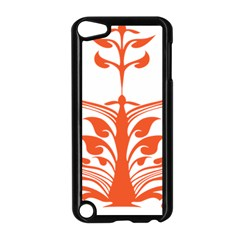 Tree Leaf Flower Orange Sexy Star Apple Ipod Touch 5 Case (black) by Mariart