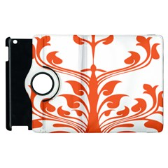 Tree Leaf Flower Orange Sexy Star Apple Ipad 2 Flip 360 Case by Mariart