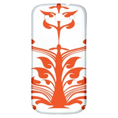 Tree Leaf Flower Orange Sexy Star Samsung Galaxy S3 S Iii Classic Hardshell Back Case by Mariart