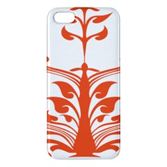 Tree Leaf Flower Orange Sexy Star Apple Iphone 5 Premium Hardshell Case by Mariart