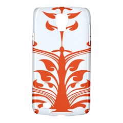 Tree Leaf Flower Orange Sexy Star Galaxy S4 Active by Mariart