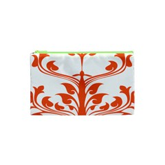 Tree Leaf Flower Orange Sexy Star Cosmetic Bag (xs) by Mariart