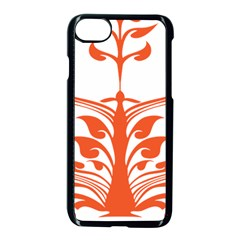 Tree Leaf Flower Orange Sexy Star Apple Iphone 7 Seamless Case (black) by Mariart