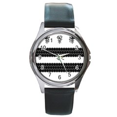 Wasp Bee Hive Black Animals Round Metal Watch by Mariart