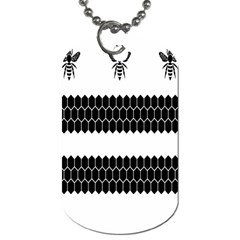 Wasp Bee Hive Black Animals Dog Tag (one Side) by Mariart