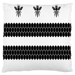 Wasp Bee Hive Black Animals Large Cushion Case (two Sides) by Mariart