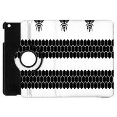 Wasp Bee Hive Black Animals Apple Ipad Mini Flip 360 Case by Mariart