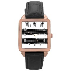 Wasp Bee Hive Black Animals Rose Gold Leather Watch  by Mariart