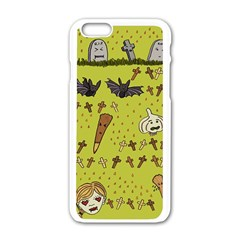 Horror Vampire Kawaii Apple Iphone 6/6s White Enamel Case