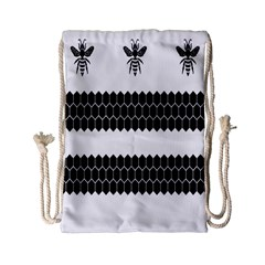 Wasp Bee Hive Black Animals Drawstring Bag (small) by Mariart