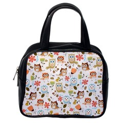 Cute Owl Classic Handbags (one Side) by Nexatart