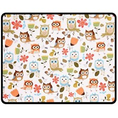 Cute Owl Fleece Blanket (medium)