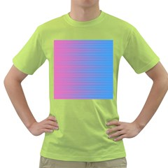 Turquoise Pink Stripe Light Blue Green T Shirt by Mariart