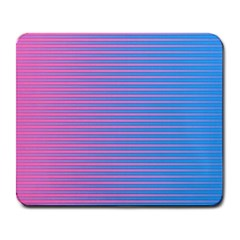 Turquoise Pink Stripe Light Blue Large Mousepads by Mariart