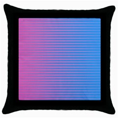 Turquoise Pink Stripe Light Blue Throw Pillow Case (black) by Mariart