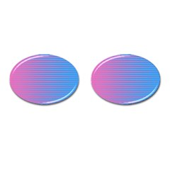 Turquoise Pink Stripe Light Blue Cufflinks (oval) by Mariart