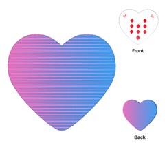 Turquoise Pink Stripe Light Blue Playing Cards (heart)  by Mariart