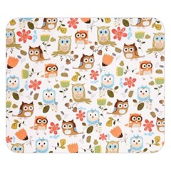 Cute Owl Double Sided Flano Blanket (small)