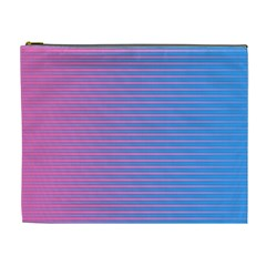 Turquoise Pink Stripe Light Blue Cosmetic Bag (xl) by Mariart