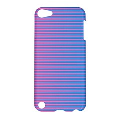 Turquoise Pink Stripe Light Blue Apple Ipod Touch 5 Hardshell Case by Mariart