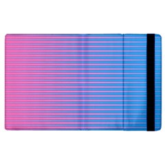Turquoise Pink Stripe Light Blue Apple Ipad 3/4 Flip Case by Mariart