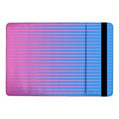 Turquoise Pink Stripe Light Blue Samsung Galaxy Tab Pro 10 1  Flip Case by Mariart