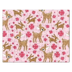 Preety Deer Cute Rectangular Jigsaw Puzzl by Nexatart