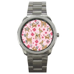 Preety Deer Cute Sport Metal Watch by Nexatart