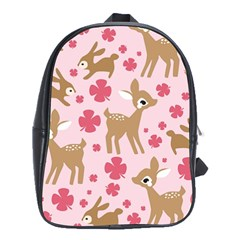 Preety Deer Cute School Bags (xl)  by Nexatart