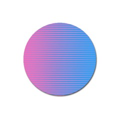 Turquoise Pink Stripe Light Blue Magnet 3  (round) by Mariart