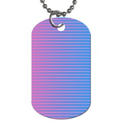 Turquoise Pink Stripe Light Blue Dog Tag (two Sides) by Mariart