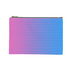 Turquoise Pink Stripe Light Blue Cosmetic Bag (large)  by Mariart
