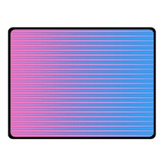 Turquoise Pink Stripe Light Blue Fleece Blanket (small) by Mariart
