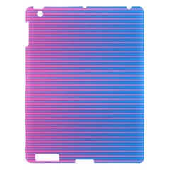 Turquoise Pink Stripe Light Blue Apple Ipad 3/4 Hardshell Case by Mariart