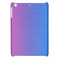 Turquoise Pink Stripe Light Blue Apple Ipad Mini Hardshell Case by Mariart