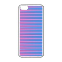 Turquoise Pink Stripe Light Blue Apple Iphone 5c Seamless Case (white) by Mariart