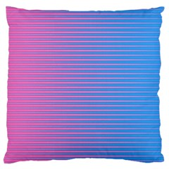 Turquoise Pink Stripe Light Blue Large Flano Cushion Case (one Side) by Mariart