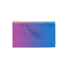Turquoise Pink Stripe Light Blue Cosmetic Bag (xs) by Mariart
