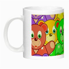 Cute Cartoon Crowd Of Colourful Kids Bears Night Luminous Mugs