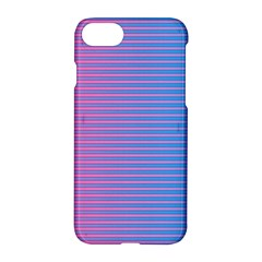 Turquoise Pink Stripe Light Blue Apple Iphone 7 Hardshell Case by Mariart