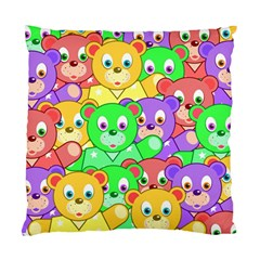 Cute Cartoon Crowd Of Colourful Kids Bears Standard Cushion Case (one Side) by Nexatart