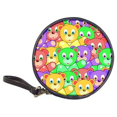 Cute Cartoon Crowd Of Colourful Kids Bears Classic 20 Cd Wallets by Nexatart