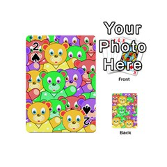 Cute Cartoon Crowd Of Colourful Kids Bears Playing Cards 54 (mini)