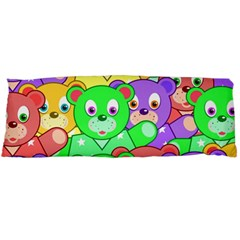 Cute Cartoon Crowd Of Colourful Kids Bears Body Pillow Case Dakimakura (two Sides) by Nexatart